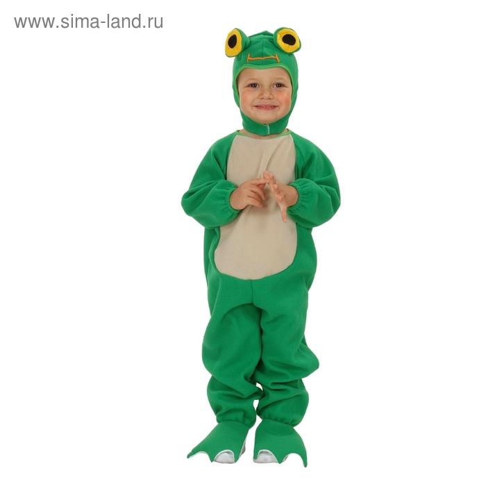 """Карнавальный костюм """"Лягушонок"""", 2 предмета: комбинезон, шапка, рост 92-104 см"""