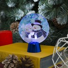"""Подставка с динамикой """"Влюбленные снеговики"""" (батарейки в комплекте), 11,5 см, 2 LED, БЕЛЫЙ 232720"""