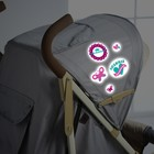 Наклейки светоотражающие на коляску «Малышка» (набор)