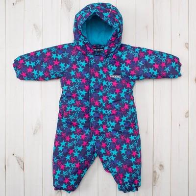 Зимний комбинезон для девочки, рост 74 см, цвет синий MW27108 _М