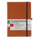 Ежедневник-плановик полудатированный А5, 144 листа Soul, искусственная кожа, черный срез, тиснение, коричневый