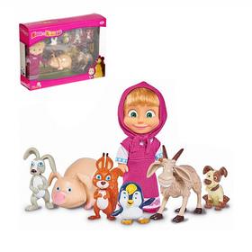 """Кукла """"Маша с друзьями-животными"""" 12см 9301020"""