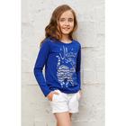 Джемпер для девочек, рост 98-104 см, цвет синий 831- AZ