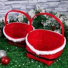Набор корзин «Красная шубка», 2 шт: 28х22х11/33,5 см, 22х17х9/27 см, шпон