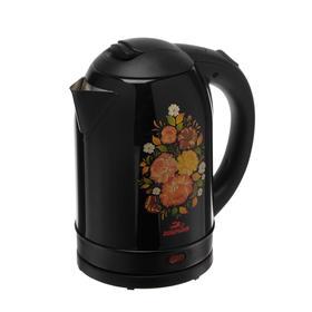 "Чайник ""Добрыня"" DO-1219, 1.8 л, 2200 Вт, черный-хохлома"