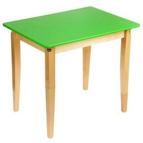 Стол детский №3, высота 520, цвет зелёный Ош