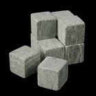 Камни для виски, 9 шт., мешочек из текстиля, размер камня 2×2×2 см