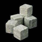 Камни для виски, 6 шт., мешочек из текстиля, размер камня 2×2×2 см