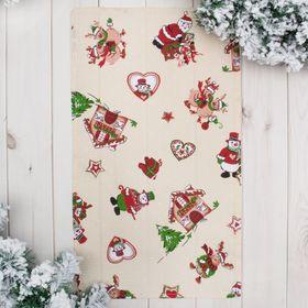 Полотенце 'Доляна' Рождественские каникулы 35х60 см, 100% хл., ваф. полотно 162 г/м² Ош