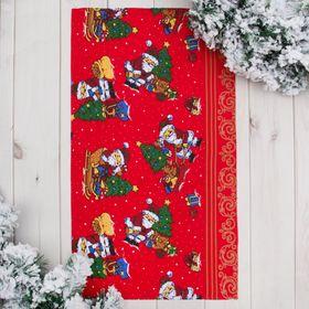 Полотенце 'Доляна' Новогодний подарок 35х60 см, 100% хл., ваф. полотно 162 г/м² Ош