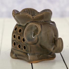 "Аромалампа керамика ""Слон с цветком"" 8х6,7х10,8 см"