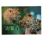 Накладка на стол дизайнерская «Маленькие леопарды», 337 х 242 мм, КН 4-1