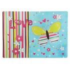 Накладка на стол дизайнерская «Яркая бабочка», для девочки, 337 х 242 мм, КН 4-1