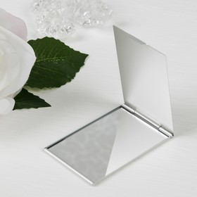 Зеркало складное, прямоугольное, одностороннее, без увеличения, цвет серебристый Ош