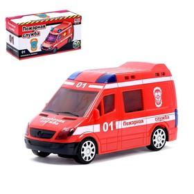"""Машина """"Пожарная служба"""", световые и звуковые эффекты, работает от батареек"""