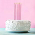 """Набор коктейльных свечей """" Свечи в торт"""" 10 шт."""