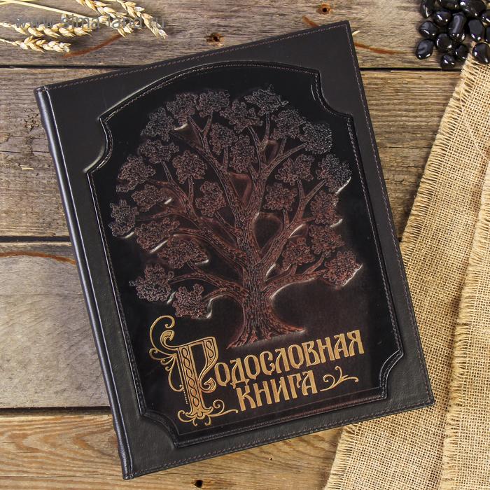 """Родословная книга-альбом """"Стандартная"""", 108 листов, натуральная кожа"""
