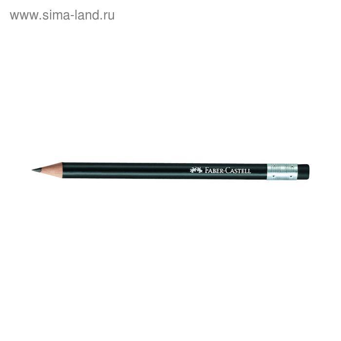 Карандаш ч/г Faber-Castell Perfect Pencil B с ластиком, черный, карт/короб 118347