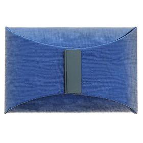 Визитница вертикальная, цвет синий Ош
