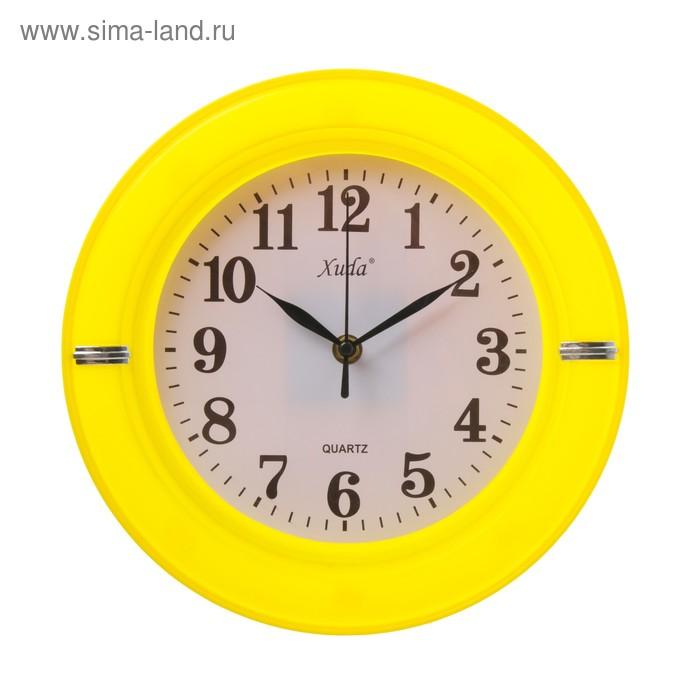 Часы настенные круг. пластик микс 26*26см