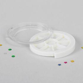 Контейнер для декора 'Карусель', 8 ячеек, d=5,3см, цвет белый Ош