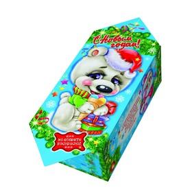 Подарочная коробка 'Мишка белый', конфета малая, сборная, 9 х 5.8 х 12.8 см Ош