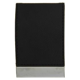 Визитница вертикальная, цвет черный