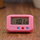 Электронные часы-будильник прямоуг, подсветка, день недели, дата, 1 ААА, микс, 6.5х4 см