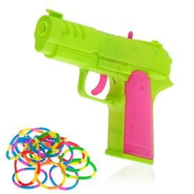 """Пистолет """"Крутое лассо"""", стреляет резиночками, цвета МИКС"""