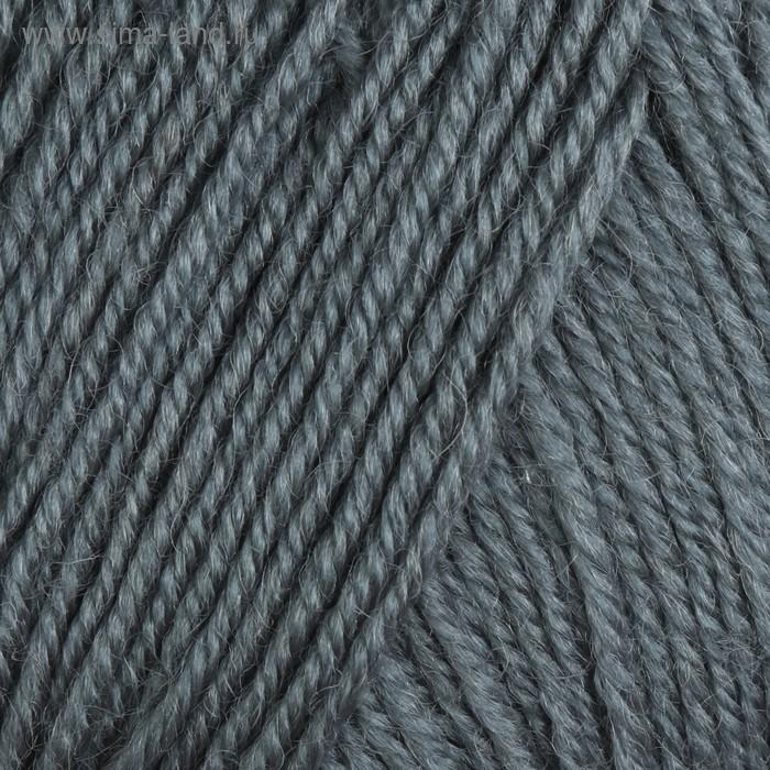 """Пряжа """"Adelia Claire"""" 50% шерсть, 50% акрил 138м/50гр (508 серый)"""