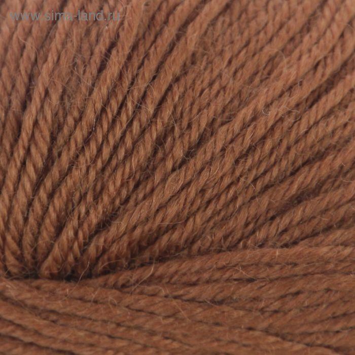 """Пряжа """"Adelia Claire"""" 50% шерсть, 50% акрил 138м/50гр (515 св.коричневый)"""