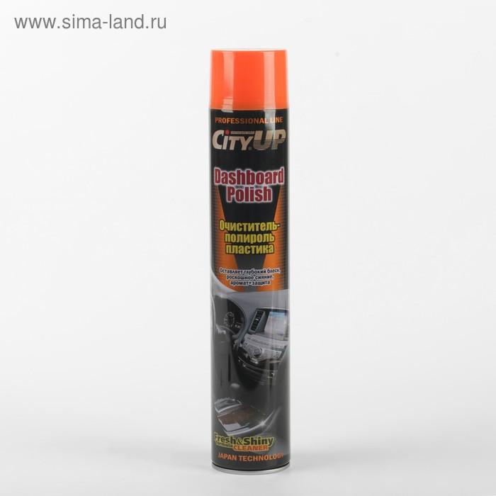 Полироль-очиститель пластика CityUP CA-840, персик, 750 мл, аэрозоль