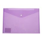 Папка-конверт на кнопке формат А4 180мкр МИКС