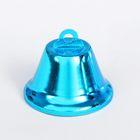 Колокольчик, размер 1 шт 3,8 см, цвет голубой