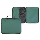 Папка с ручками текстиль А4 30мм 300*210 Канцбург 1Ш42 1426559 Офис Люкс зеленый