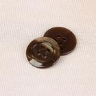 Пуговица, на 4 прокола, 18мм, цвет коричневый