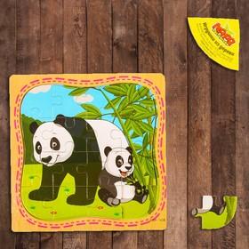"""Пазл в рамке """"Панда и мама"""""""