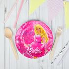 "Набор тарелок ""Веселый праздник Barbie"", 6 шт, 18 см"