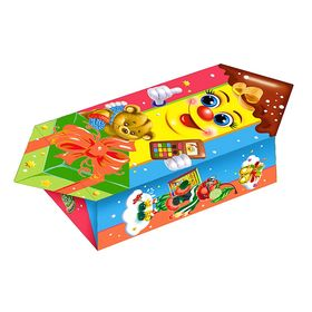 Подарочная коробка 'Веселый Карандаш', кофета, сборная, 16.5 х 9 х 6 см Ош