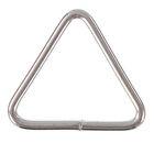Основа для брелока, соединительный элемент треугольник, серебристый