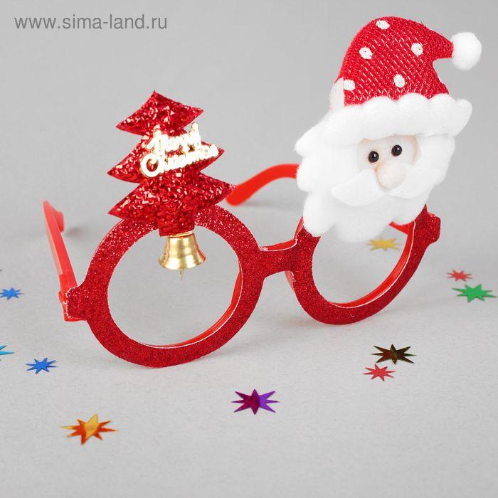 """Карнавальные очки """"С Новым Годом"""", елочка и дед мороз"""