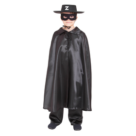 """Карнавальный костюм """"Зорро"""", шляпа, маска, плащ, длина 80 см"""