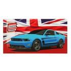 Планинг недатированный 64 листа «Авто и британский флаг», обложка бумвинил