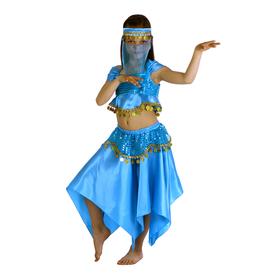 Карнавальный костюм 'Восточная красавица. Лейла', повязка, топ, юбка, цвет голубой, р-р 28, рост 98-104 см Ош