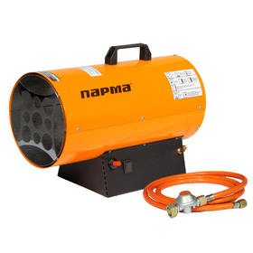 Тепловая пушка ПАРМА ТПГ- 10, газовая, 10 кВт, 300 м3/час, 0.7 кг/час, пьезорозжиг