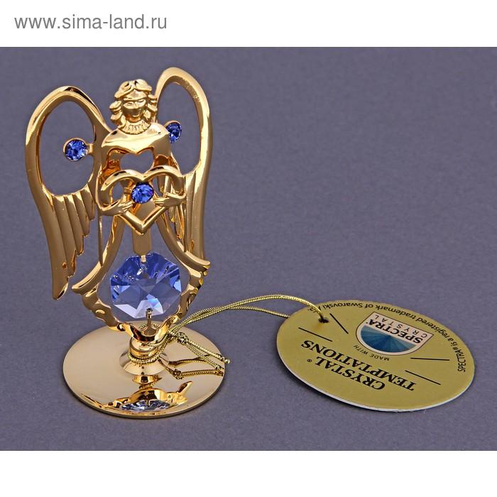 """Сувенир """"Ангел"""" на подставке с хрусталиком сваровски"""