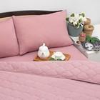 Постельное бельё Brooklin Bed 2 сп, цвет лиловый, простыня на резинке 180х200, одеяло 170х220, 50х70 - 2шт, трикотаж Терри
