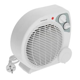 Тепловентилятор Magnit RFH-5282, 2000 Вт, белый, вентиляция без нагрева, белый Ош