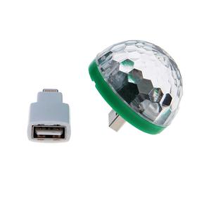 Световой прибор хрустальный шар USB - iPhone 5/6/7, реагирует на звук Ош