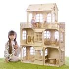 """Конструктор """"Большой кукольный дом"""", без мебели, фанера — 3 мм, этаж: 33 см"""